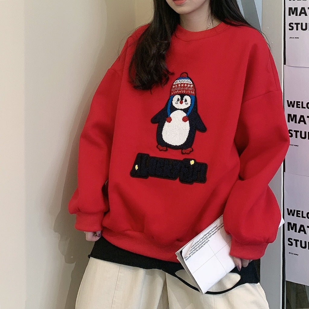 Penguin Embroidered Sweater PL21200