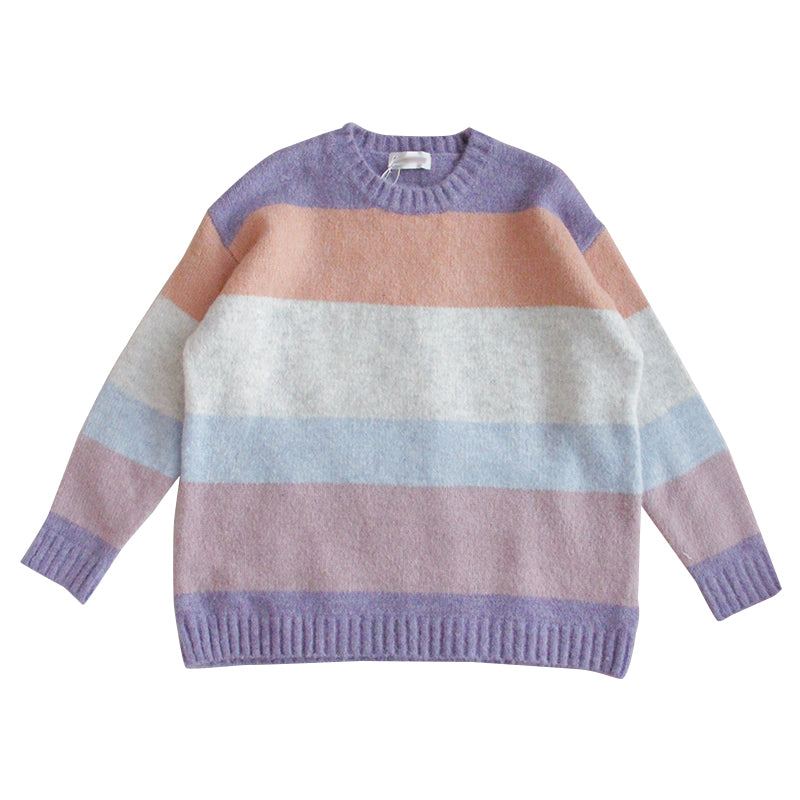 Rainbow striped sweater PL20931