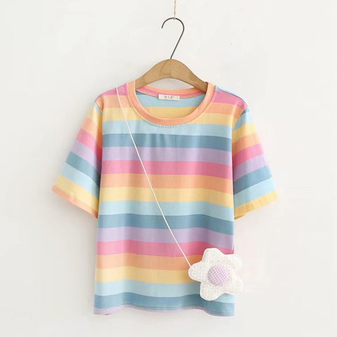 pastel rainbow T-shirt (send bag) PL50353