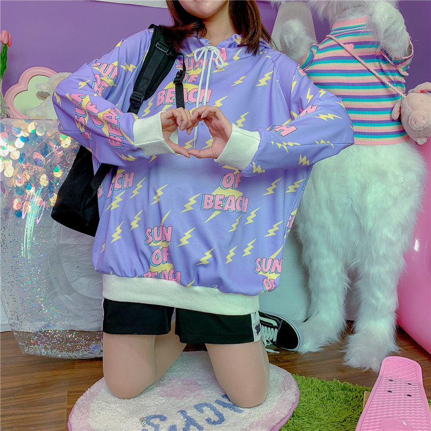 Lightning print sweater PL20887