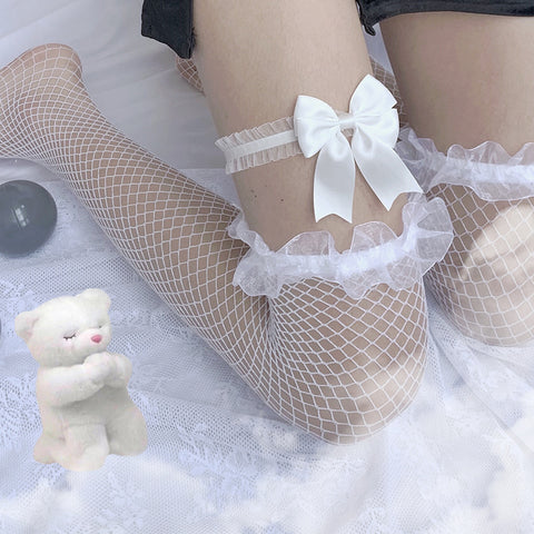 Bowknot long socks PL50604