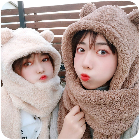 Hooded scarf PL21265