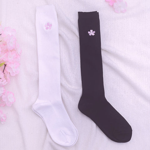 Sakura embroidered socks PL50003