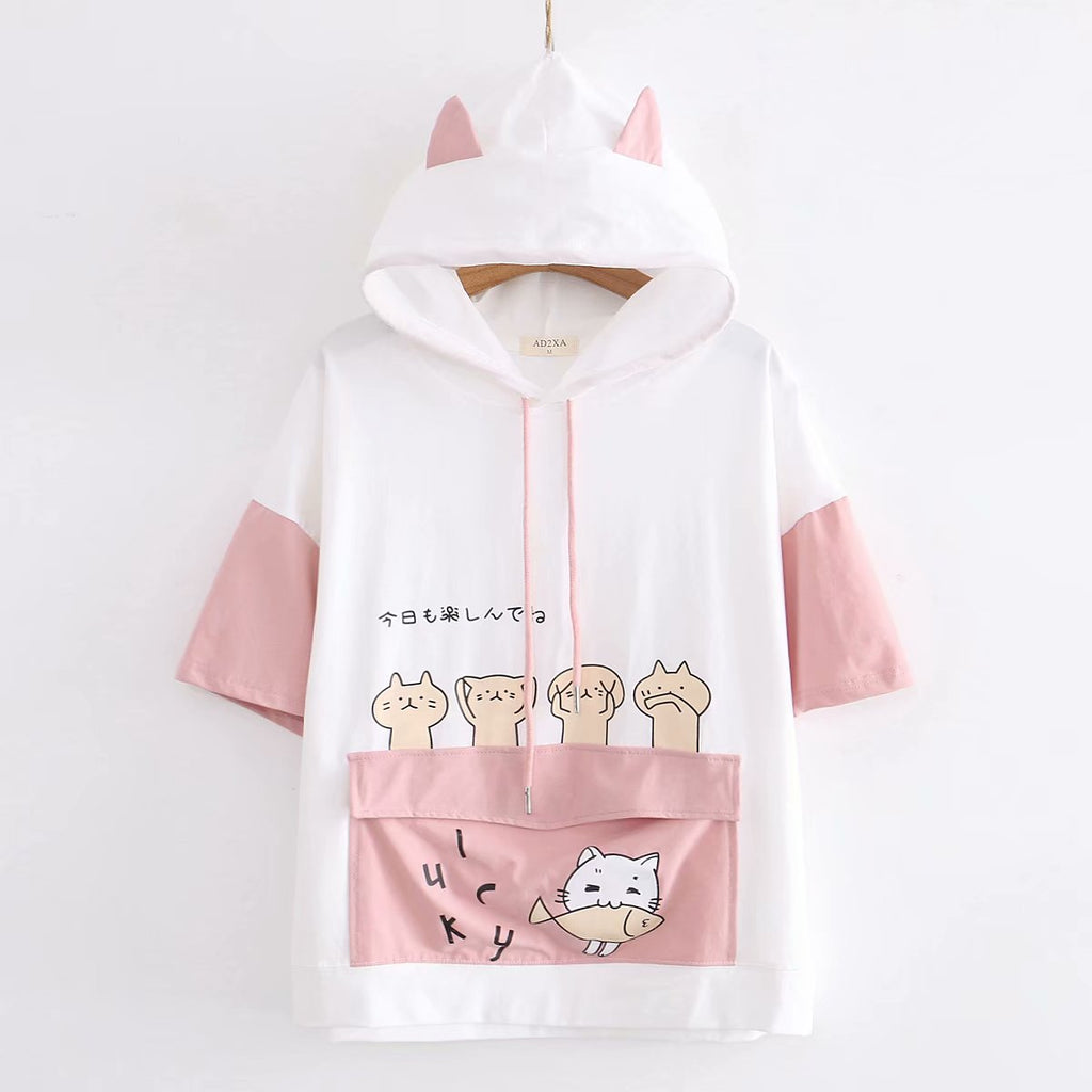Harajuku cartoon T-shirt PL50354