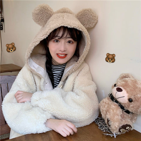 Bear ear coat PL21070