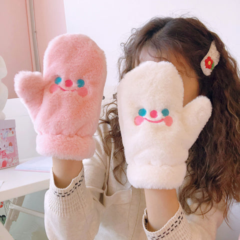 Cute plush gloves PL50043