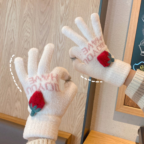 Cute knitted gloves PL51114