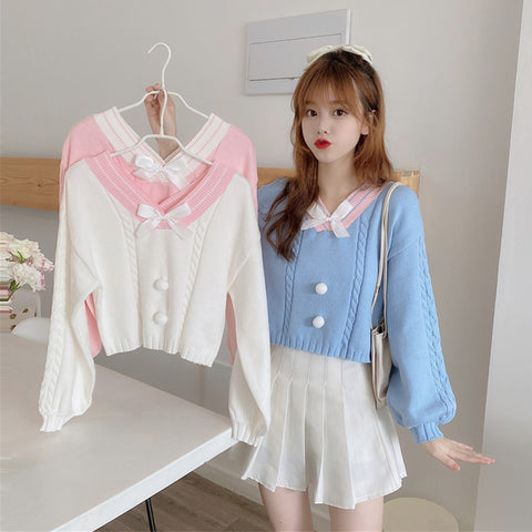 Chic bow sweater PL50795