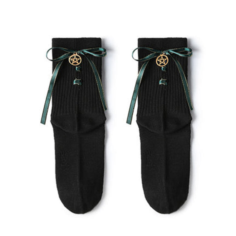 College wind bow stockings PL10226