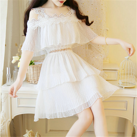 Sweet Chiffon Sling Dress PL51353