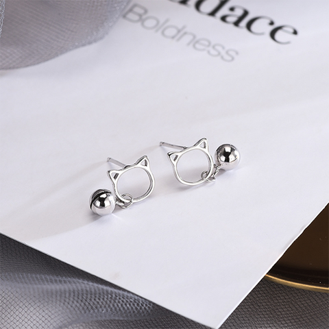Cat bell earrings PL10313