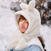 Plush rabbit scarf hat PL40031