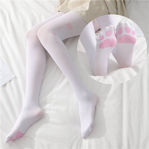 Lolita cat claw print over knee socks PL20983