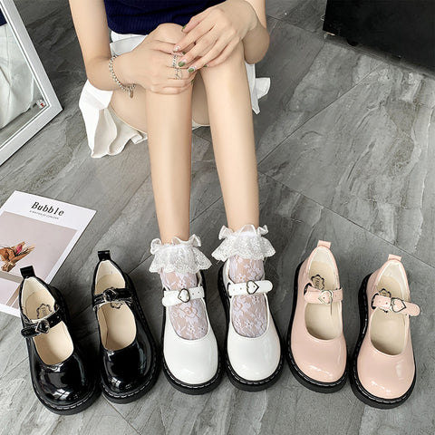 Cute leather shoes PL50128