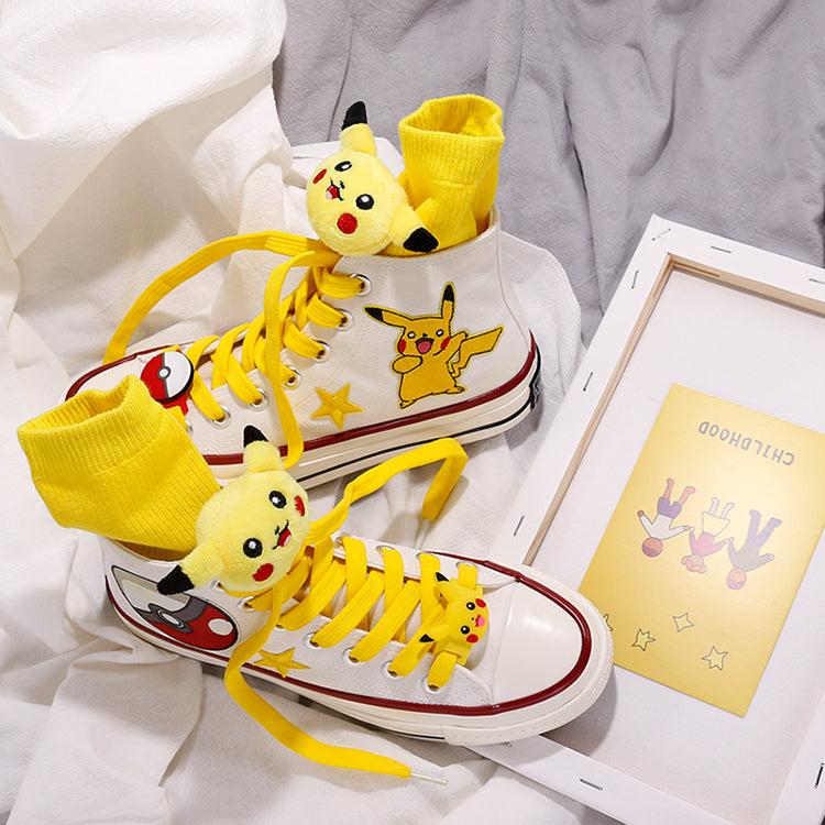 Cute Pikachu hand-painted shoes PL50081
