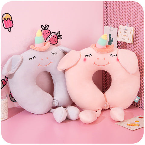 Unicorn U-shaped pillow PL21275