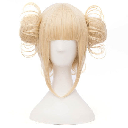 College wind milk golden wig PL10116