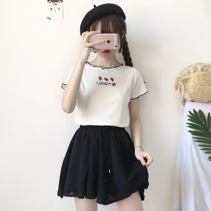 Short embroidered t-shirt   PL20409