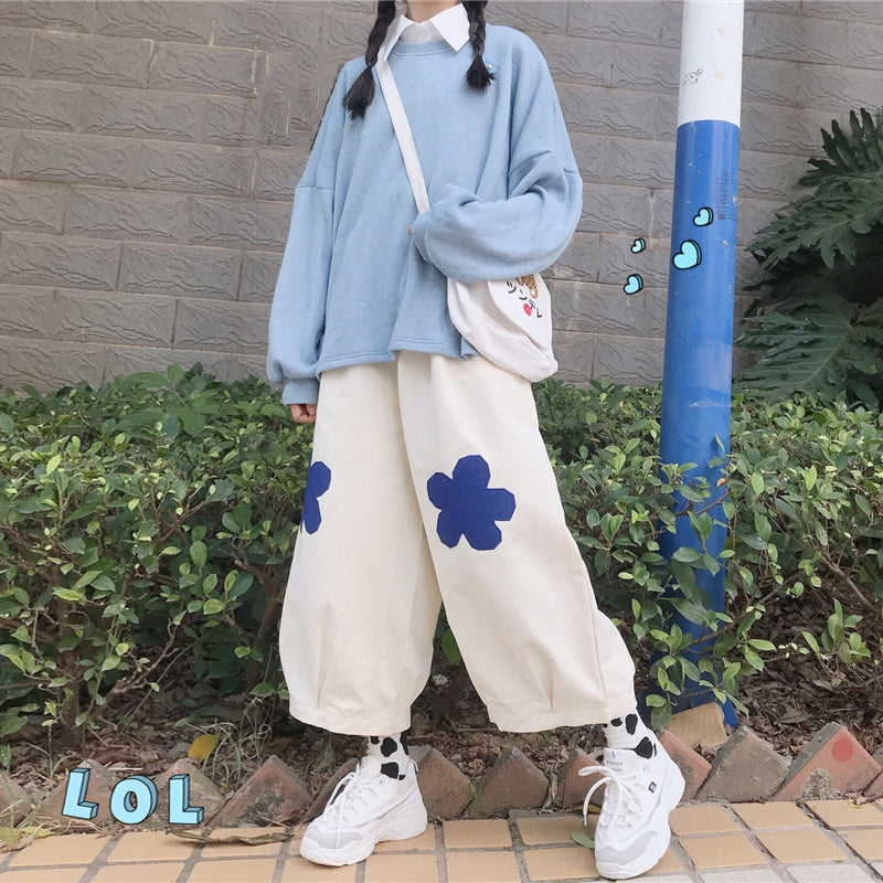 """Flower"" printed pants PL21001"