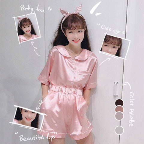 Cute short-sleeved home service suit PL20440