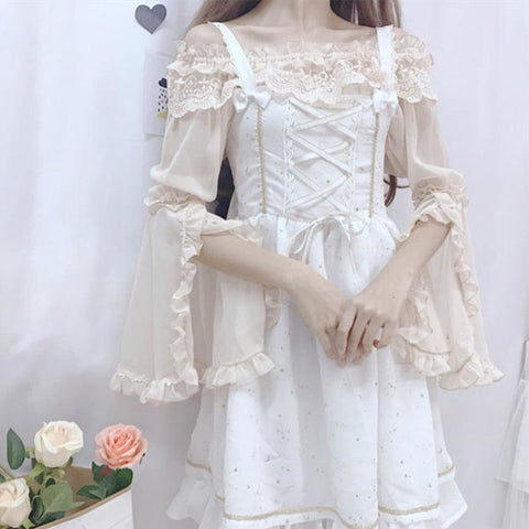 Lolita lace chiffon shirt + dress PL10277