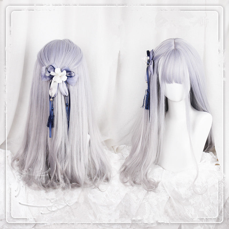 Lolita purple gray gradient wig PL20285