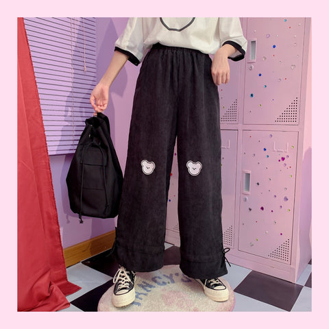 Bear black pants PL50362