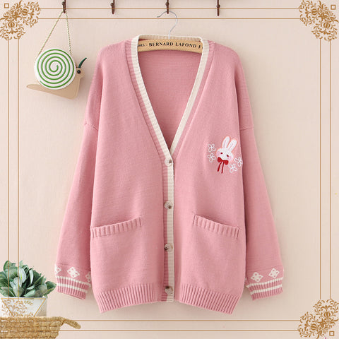 V-neck cardigan sweater PL20867