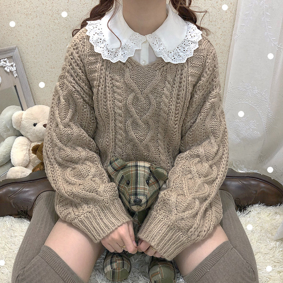 Pastelloves handmade knit sweater PL21121