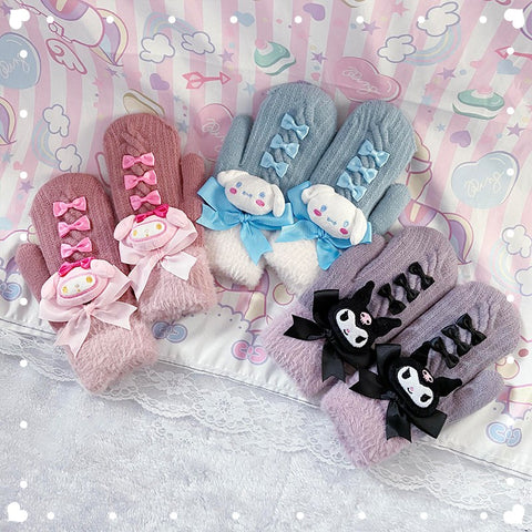 Cute cartoon bow gloves PL51437