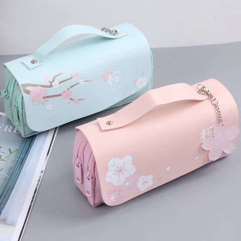 Cherry blossom double layer stationery bag PL20735