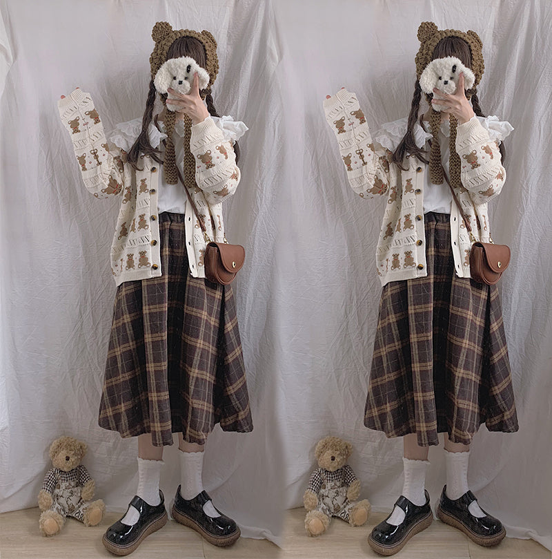 Lolita Plaid Skirt PL21137