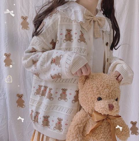 Bear sweater coat PL21232