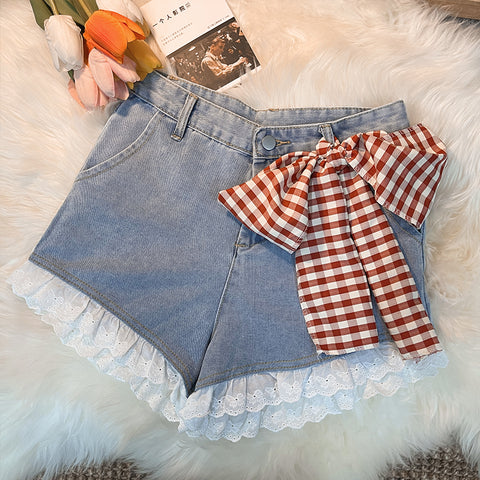 Cute bow jeans PL51344