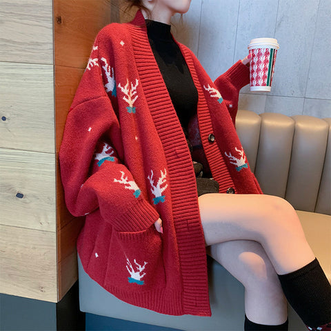 Antler open chest knit jacket PL20825