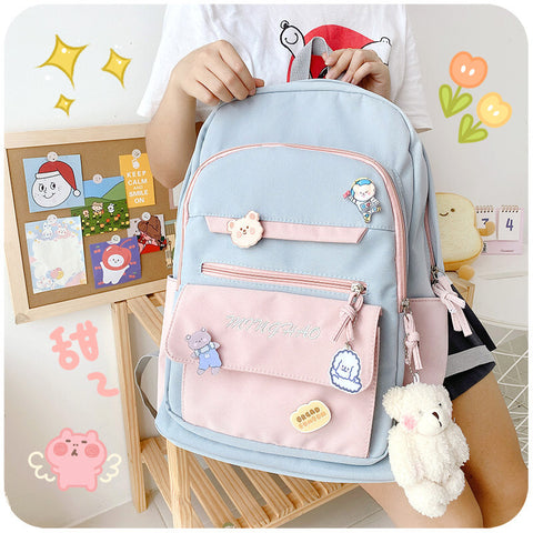 Lovely large-capacity school bag PL51116
