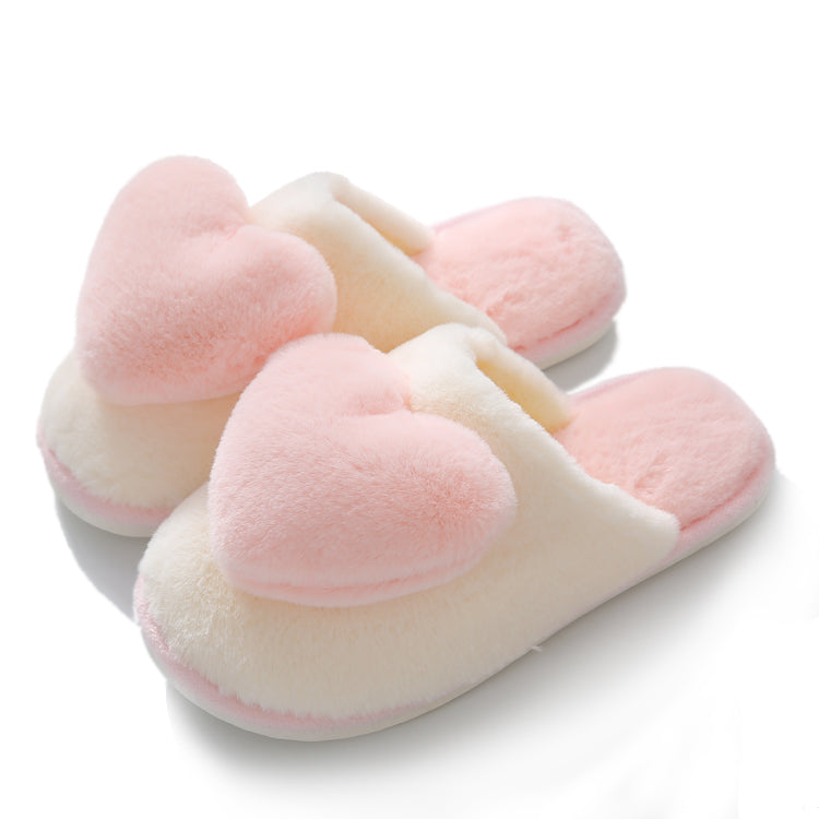 Love plush warm slippers PL21244