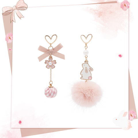 Cute Rabbit/Sakura Earrings PL50441