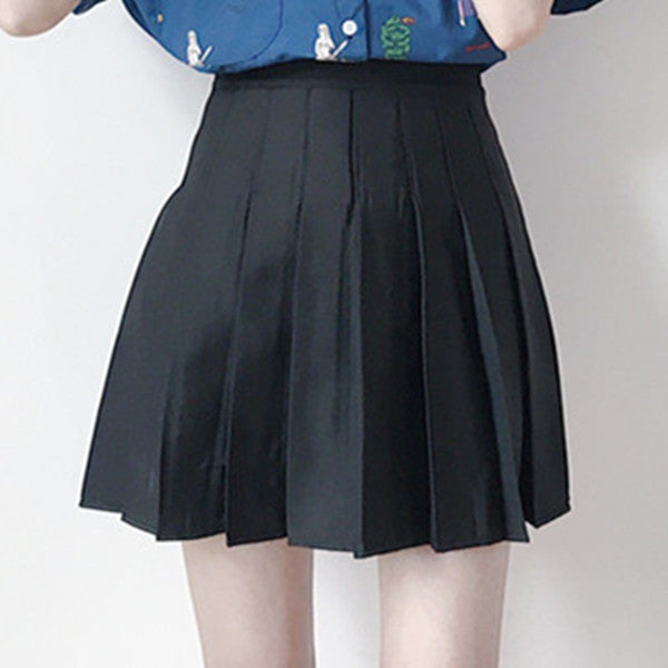 Printed shirt + short skirt PL20410