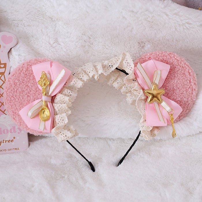 Lolita pink bear ear band PL21187