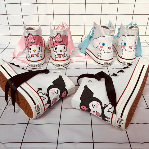 Lovely high-top canvas shoes PL51337