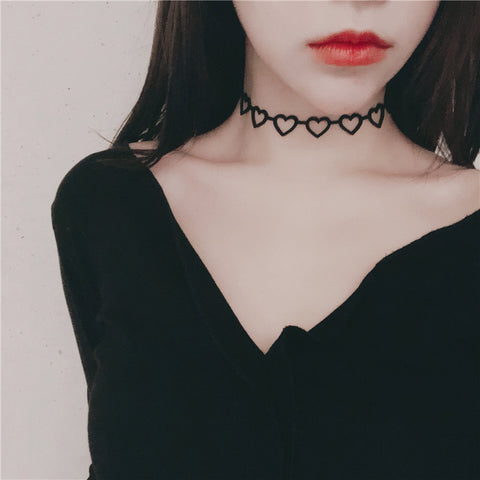 Lolita hollowing out love clavicle chain PL20331