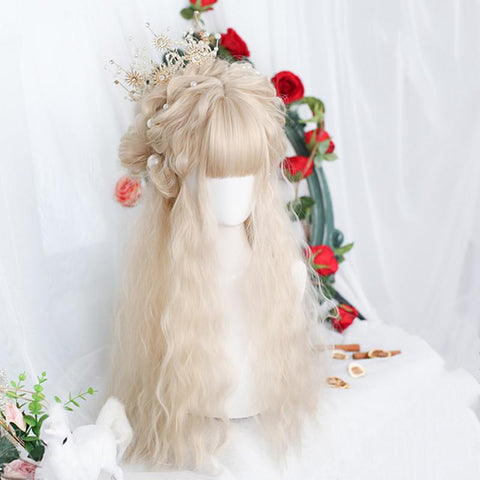 Lolita light gold long wig PL51004