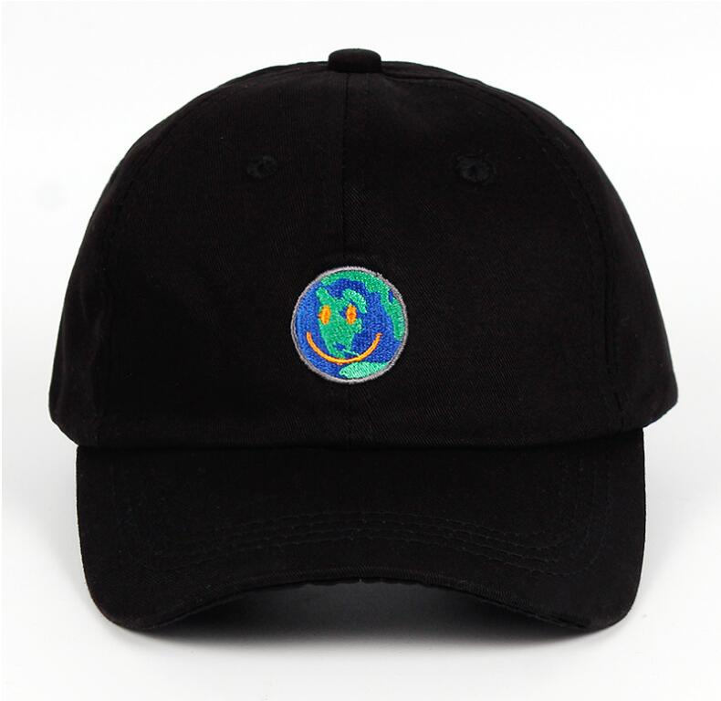 Globe embroidered baseball hat PL20891