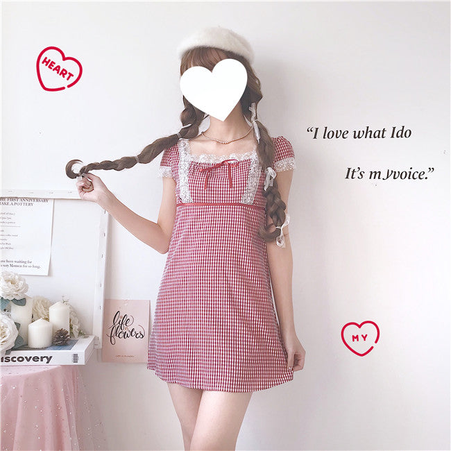 Pink Check Dress PL50410