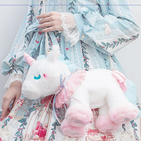 Cute unicorn shoulder bag doll PL51352