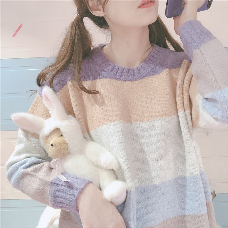 Pastelloves striped sweater PL21096