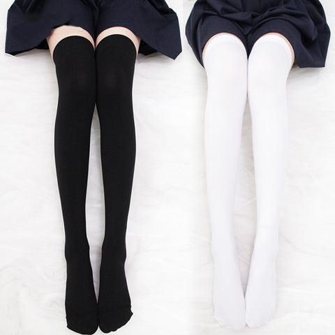 Velvet Japanese high socks (buy one get one free)PL10141