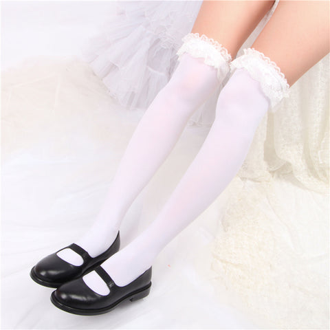 Lace over the knee socks PL20569