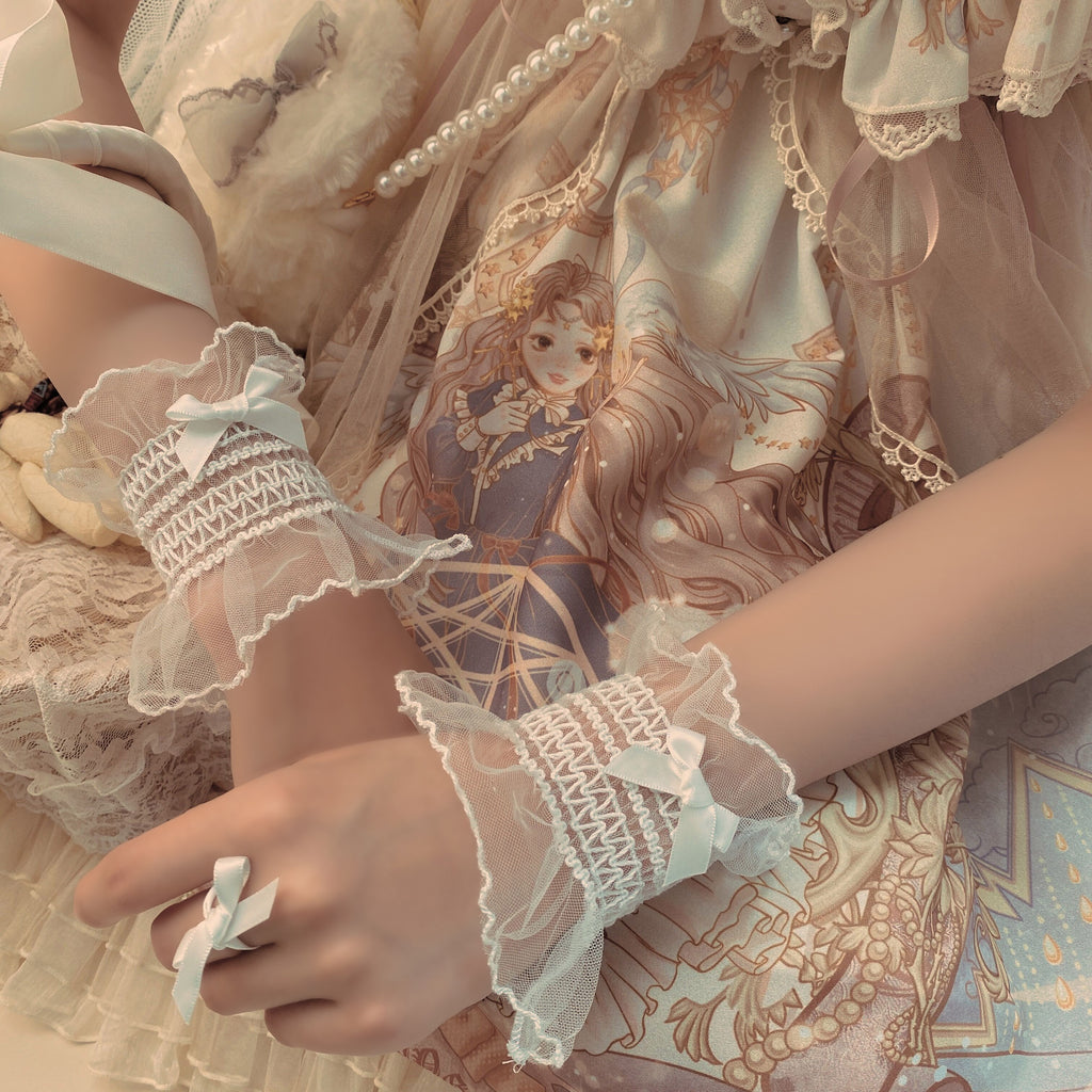 Bow lace hand sleeves PL50607